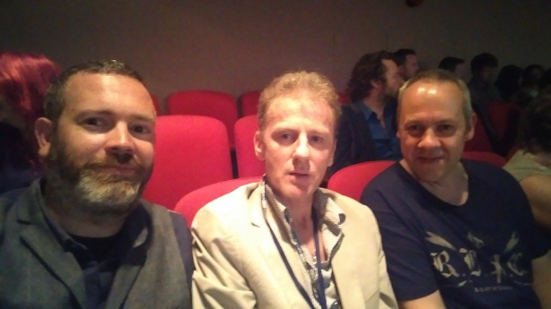 Simon (editor) with Kevin Liddy (Dir) and Rori Coleman (music) at the screening of The Suffering Kind.