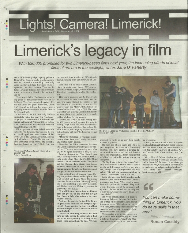 Limerick Voice Article 1