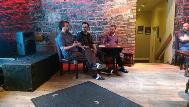 From Left: Peter Delaney (dir), Stephen Hall (dir), and Daniel Mooney (writer)