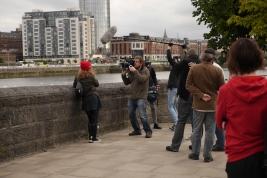 Filming scenes Shannon Side.