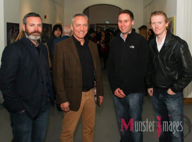 Simon with Nigel Mercier, (LImerick School of Acting), Mark Griffin (Behind The Scenes) and Ronan Cassidy (Film Limerick) (Photo by (Pat Browne, Munster Images)