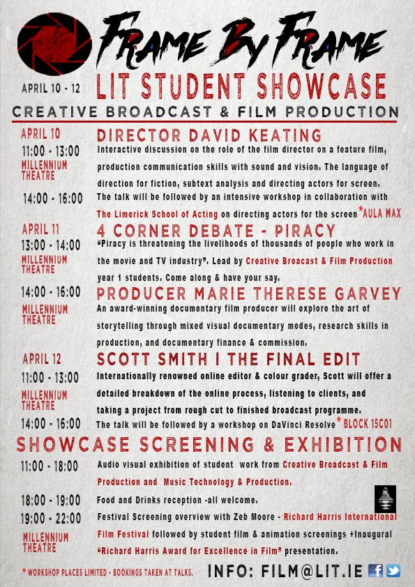 FRAME BY FRAME Student Showcase 2018 | Limerick Film Festival